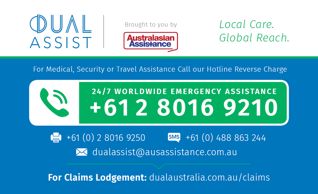 DUAL Assist - Emergency Assistance Card_Single Sided_v02